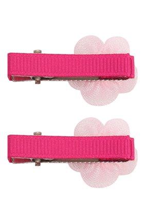 Детская комплект из двух заколок JUNEFEE розового цвета, арт. 6775   Фото 2