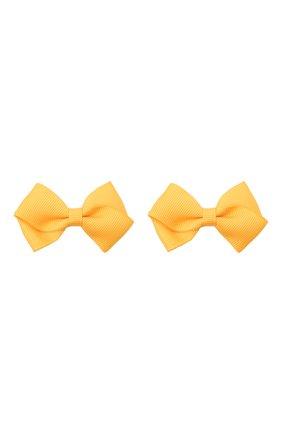 Детская комплект из двух заколок JUNEFEE желтого цвета, арт. 6115 | Фото 1
