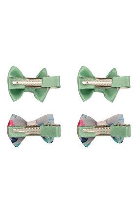 Детская комплект из четырех заколок JUNEFEE зеленого цвета, арт. 6785   Фото 2