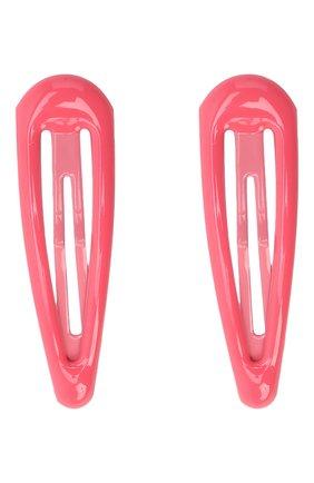 Детская комплект из двух заколок JUNEFEE розового цвета, арт. 6777   Фото 1
