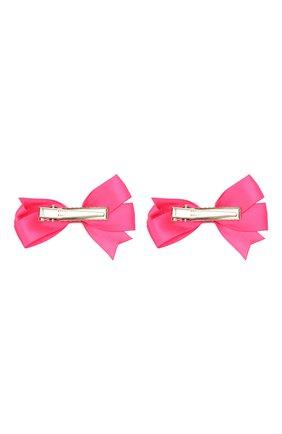 Детская комплект из двух заколок JUNEFEE розового цвета, арт. 6337   Фото 2