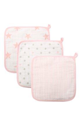 Детского набор из трех полотенец ADEN+ANAIS розового цвета, арт. G3650B | Фото 1 (Материал: Текстиль, Хлопок)