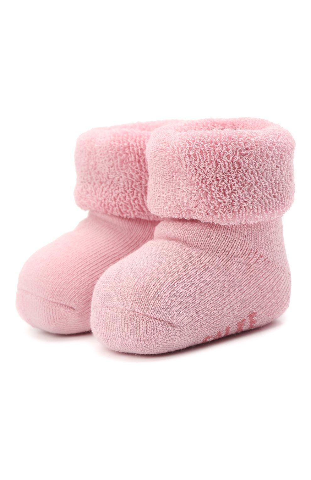 Детские хлопковые носки FALKE розового цвета, арт. 10612.   Фото 1 (Материал: Текстиль, Хлопок)