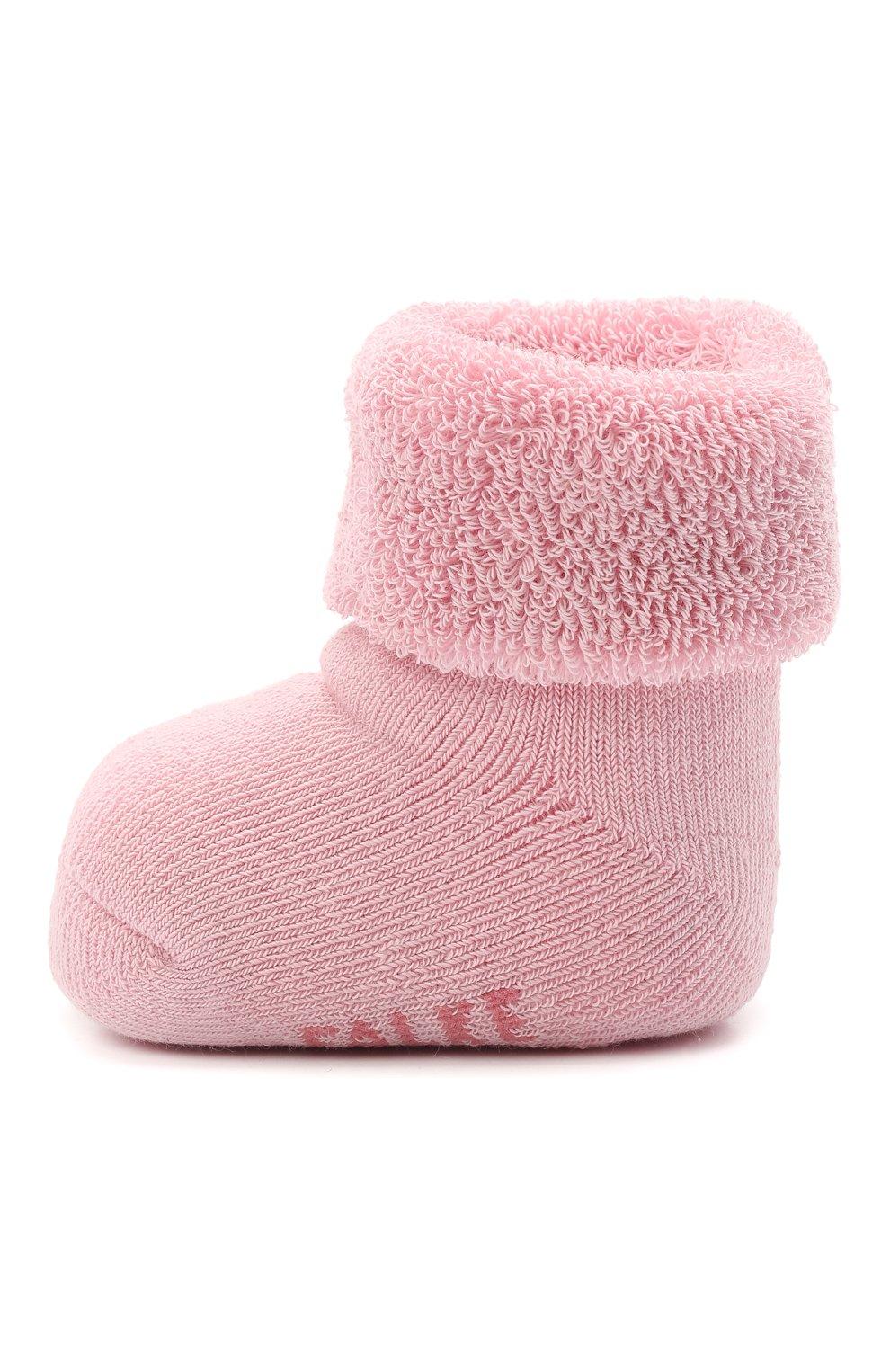 Детские хлопковые носки FALKE розового цвета, арт. 10612.   Фото 2 (Материал: Текстиль, Хлопок)