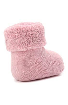 Детские хлопковые носки FALKE розового цвета, арт. 10612.   Фото 3 (Материал: Текстиль, Хлопок)