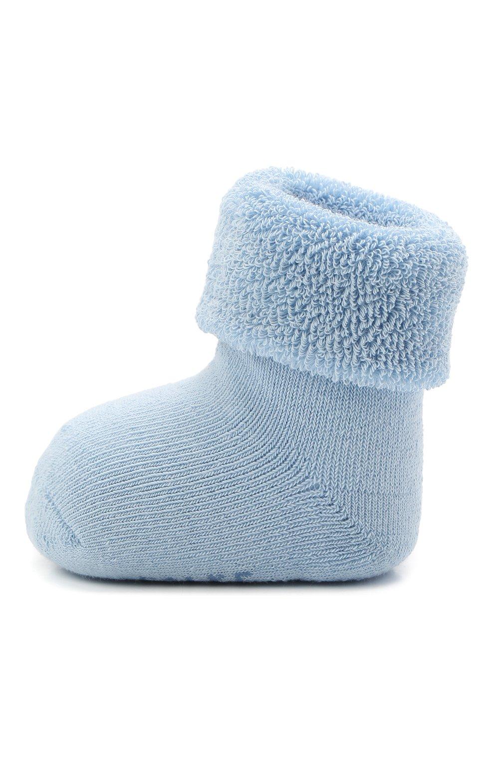 Детские хлопковые носки FALKE голубого цвета, арт. 10612.   Фото 2 (Материал: Текстиль, Хлопок)