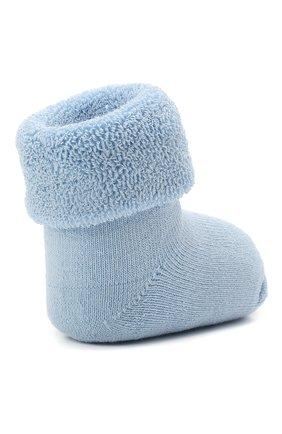 Детские хлопковые носки FALKE голубого цвета, арт. 10612.   Фото 3 (Материал: Текстиль, Хлопок)