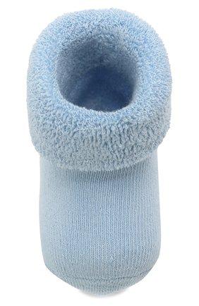 Детские хлопковые носки FALKE голубого цвета, арт. 10612.   Фото 4 (Материал: Текстиль, Хлопок)