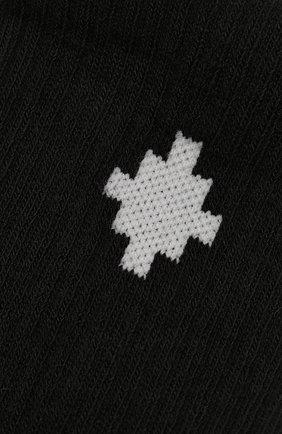 Детские хлопковые носки MARCELO BURLON KIDS OF MILAN черного цвета, арт. 21E/B/MB/6000/7010 | Фото 2