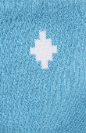Детские хлопковые носки MARCELO BURLON KIDS OF MILAN голубого цвета, арт. 21E/B/MB/6000/7010 | Фото 2