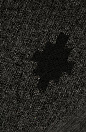 Детские хлопковые носки MARCELO BURLON KIDS OF MILAN темно-серого цвета, арт. 21E/B/MB/6000/7010 | Фото 2