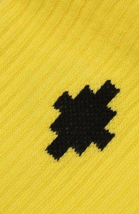 Детские хлопковые носки MARCELO BURLON KIDS OF MILAN желтого цвета, арт. 21E/B/MB/6000/7010 | Фото 2