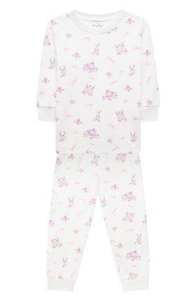 Детский хлопковая пижама KISSY KISSY розового цвета, арт. KG605911I | Фото 1