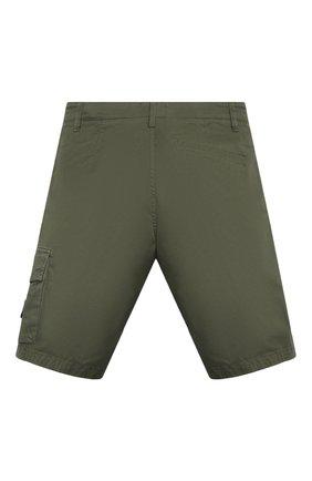 Детские хлопковые шорты STONE ISLAND темно-зеленого цвета, арт. 7416L0412/14   Фото 2