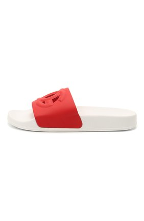 Детские кожаные шлепанцы DOLCE & GABBANA красного цвета, арт. D11031/A1735/37-39   Фото 2 (Материал внутренний: Натуральная кожа)