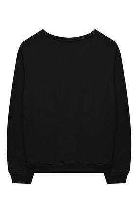 Детский хлопковый свитшот CHIARA FERRAGNI черного цвета, арт. 20PE-CFKF014 | Фото 2