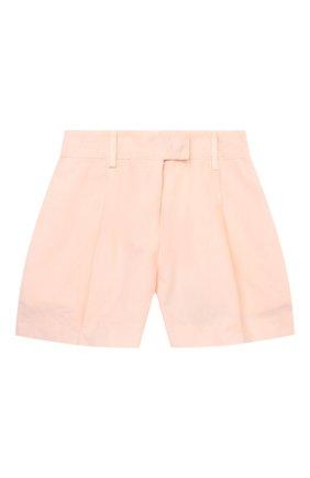 Детские хлопковые шорты ERMANNO SCERVINO розового цвета, арт. ESFBE009 CF473 WS006/3A-4A   Фото 1
