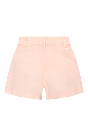 Детские хлопковые шорты ERMANNO SCERVINO розового цвета, арт. ESFBE009 CF473 WS006/3A-4A   Фото 2