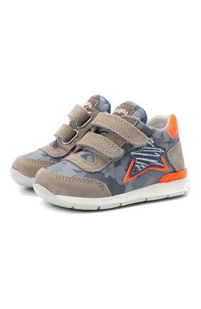 Детские кожаные кроссовки FALCOTTO синего цвета, арт. 0012015873/03 | Фото 1
