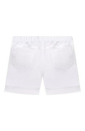 Детские хлопковые шорты IL GUFO белого цвета, арт. P21PB044C6002/12M-18M | Фото 2