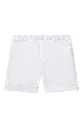 Детские хлопковые шорты IL GUFO белого цвета, арт. P21PB044C6002/24M | Фото 1