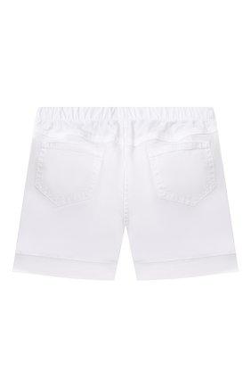 Детские хлопковые шорты IL GUFO белого цвета, арт. P21PB044C6002/24M | Фото 2