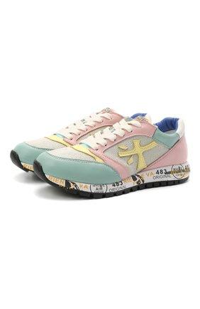 Детские кроссовки PREMIATA WILL BE разноцветного цвета, арт. ZAC ZAC/12-91536/CHILD | Фото 1 (Материал внешний: Текстиль; Материал внутренний: Натуральная кожа)