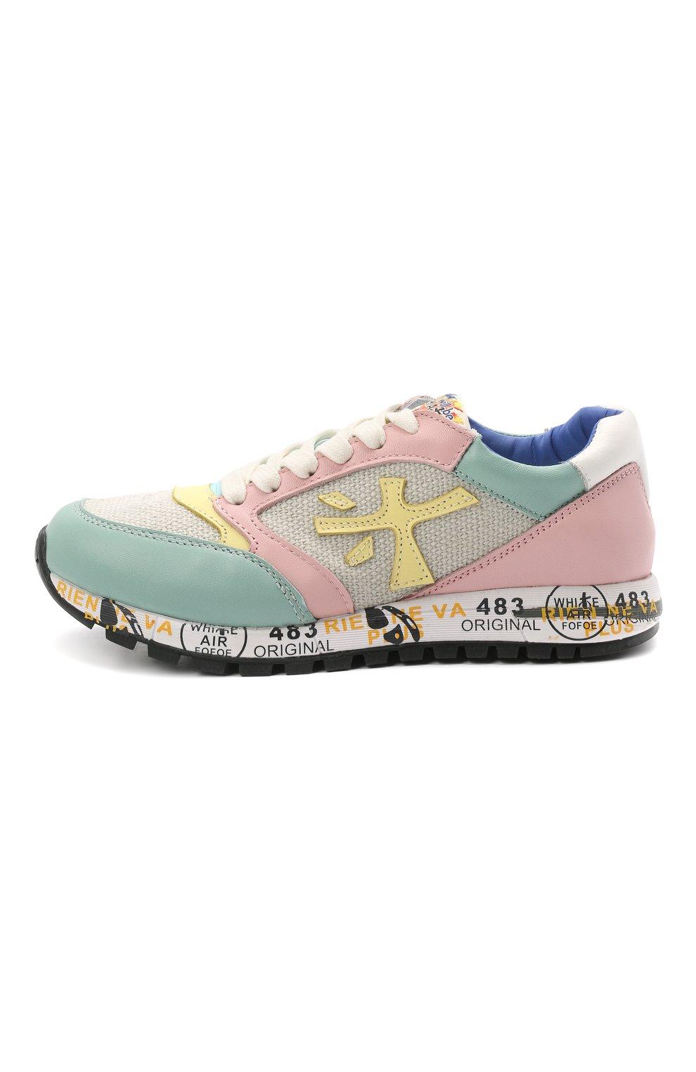Детские кроссовки PREMIATA WILL BE разноцветного цвета, арт. ZAC ZAC/12-91536/CHILD | Фото 2 (Материал внешний: Текстиль; Материал внутренний: Натуральная кожа)