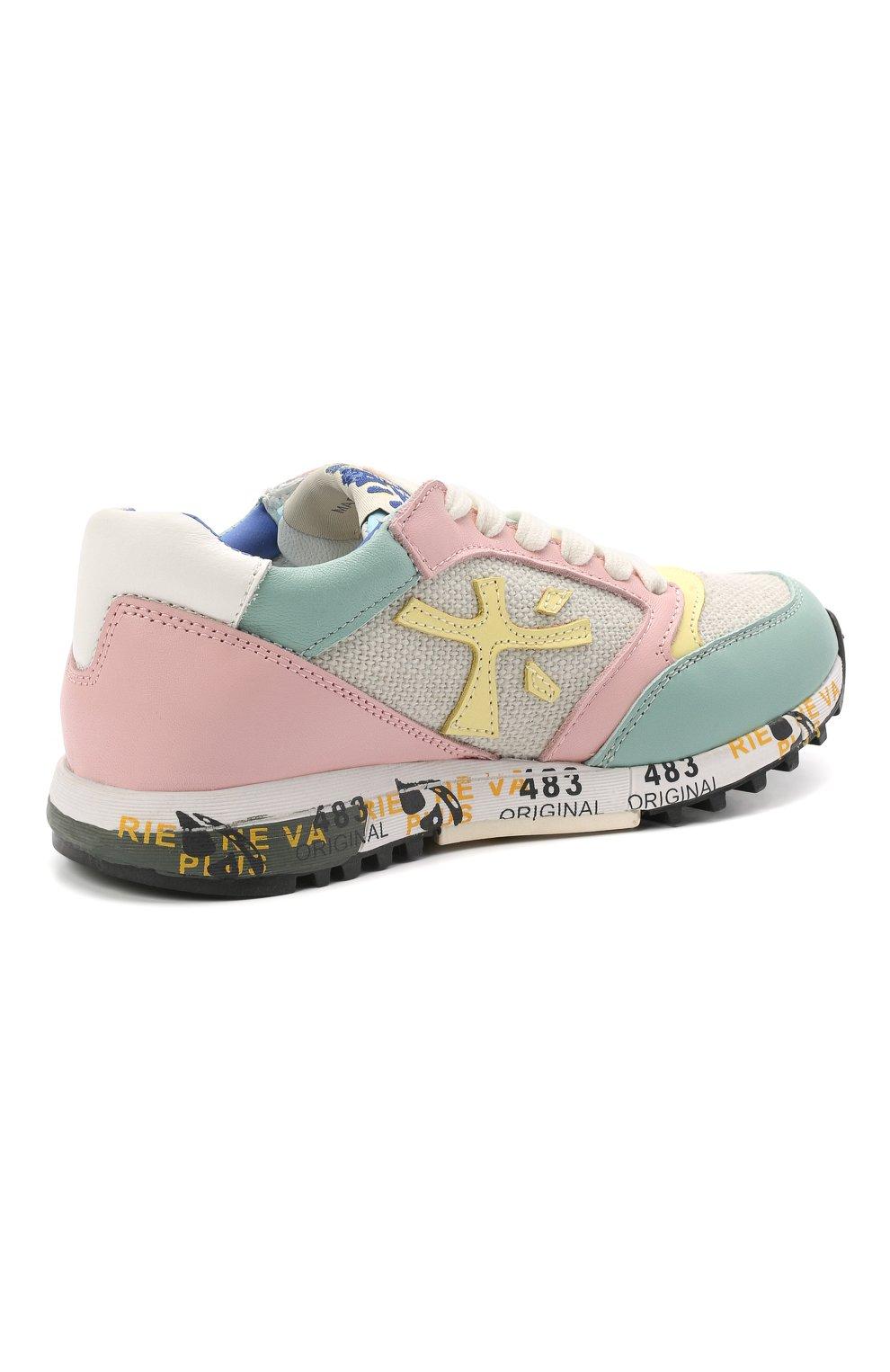 Детские кроссовки PREMIATA WILL BE разноцветного цвета, арт. ZAC ZAC/12-91536/CHILD | Фото 3 (Материал внешний: Текстиль; Материал внутренний: Натуральная кожа)