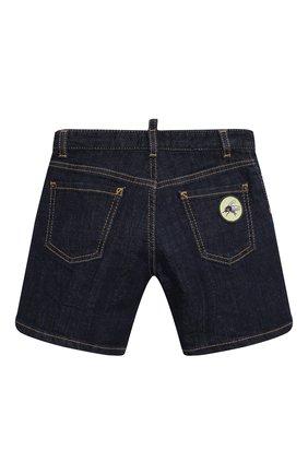 Детские джинсовые шорты DSQUARED2 синего цвета, арт. DQ0339-D006L | Фото 2