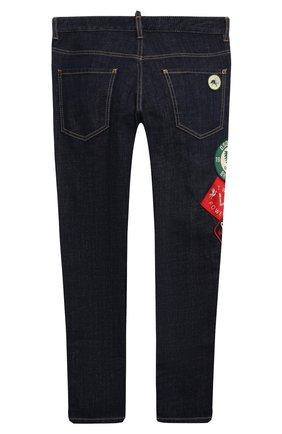 Детские джинсы DSQUARED2 синего цвета, арт. DQ042L-D006L | Фото 2