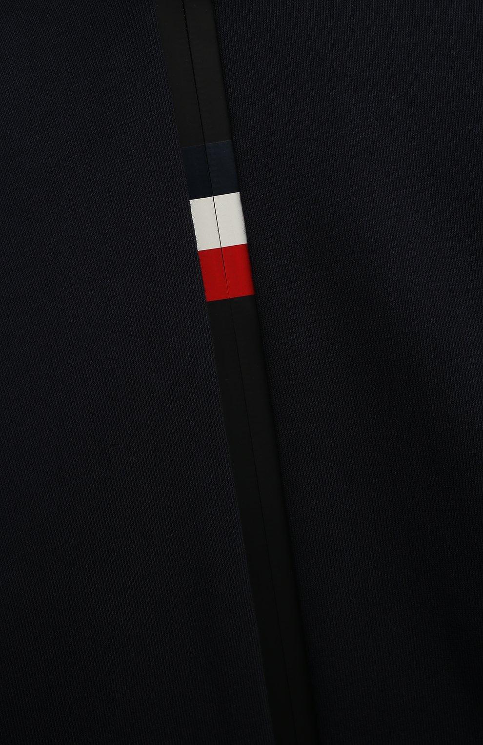 Детского комплект из толстовки и брюк MONCLER темно-синего цвета, арт. G1-954-8M741-20-809AG/8-10A | Фото 6 (Рукава: Длинные; Материал внешний: Хлопок; Мальчики Кросс-КТ: Костюмы-спорт; Ростовка одежда: 10 - 11 лет | 140 - 146см, 8 лет | 128 см)