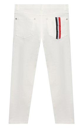 Детские джинсы MONCLER белого цвета, арт. G1-954-2A713-20-54A2A/8-10A   Фото 2