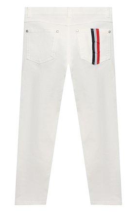 Детские джинсы MONCLER белого цвета, арт. G1-954-2A713-20-54A2A/4-6A   Фото 2