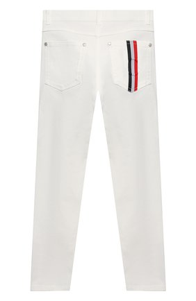 Детские джинсы MONCLER белого цвета, арт. G1-954-2A713-20-54A2A/12-14A   Фото 2