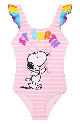 Детского слитный купальник MC2 SAINT BARTH розового цвета, арт. STBK CAR0L/CAR0001/SYBL21   Фото 1