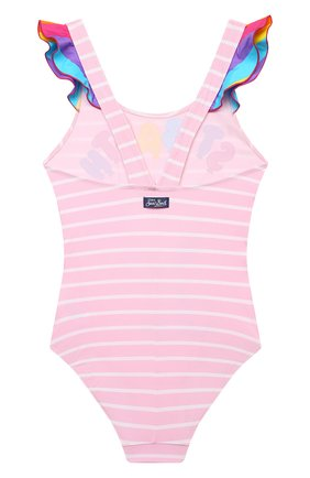 Детского слитный купальник MC2 SAINT BARTH розового цвета, арт. STBK CAR0L/CAR0001/SYBL21   Фото 2
