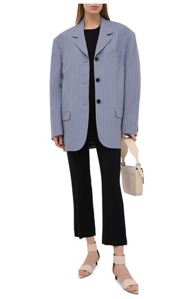 Женские кожаные босоножки agnellato JIL SANDER бежевого цвета, арт. JS36138A-13202 | Фото 2 (Каблук тип: Kitten heel; Материал внутренний: Натуральная кожа; Подошва: Плоская; Каблук высота: Низкий)