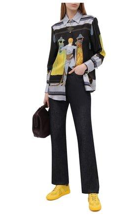 Женские кожаные кеды replica MAISON MARGIELA желтого цвета, арт. S58WS0109/P1897 | Фото 2
