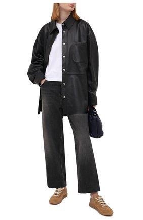 Женские кожаные кеды replica MAISON MARGIELA бежевого цвета, арт. S58WS0109/P4045   Фото 2