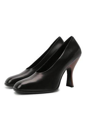 Женские кожаные туфли jade THE ROW черного цвета, арт. F1194-L35 | Фото 1