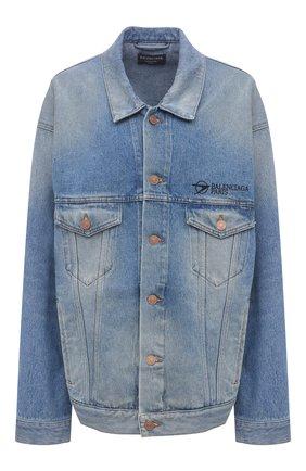 Женская джинсовая куртка BALENCIAGA голубого цвета, арт. 657608/TDW15 | Фото 1