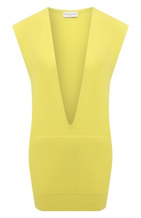 Женский кашемировый жилет DRIES VAN NOTEN желтого цвета, арт. 211-11252-2704   Фото 1