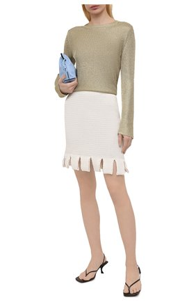 Женский свитер из вискозы DRIES VAN NOTEN золотого цвета, арт. 211-11211-2703 | Фото 2