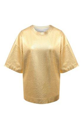 Женский хлопковый топ DRIES VAN NOTEN золотого цвета, арт. 211-11133-2624 | Фото 1
