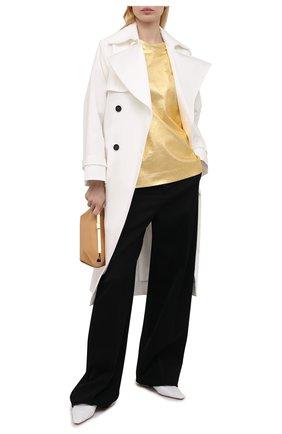 Женский хлопковый топ DRIES VAN NOTEN золотого цвета, арт. 211-11133-2624 | Фото 2
