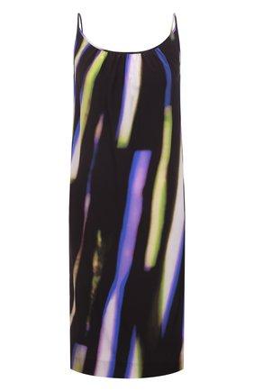 Женское шелковое платье DRIES VAN NOTEN фиолетового цвета, арт. 211-11055-2087 | Фото 1