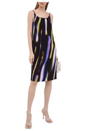 Женское шелковое платье DRIES VAN NOTEN фиолетового цвета, арт. 211-11055-2087 | Фото 2