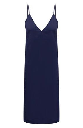Женское платье из вискозы DRIES VAN NOTEN синего цвета, арт. 211-11052-2146   Фото 1