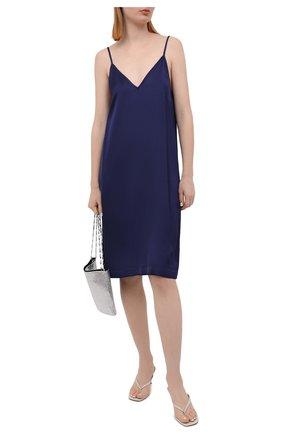 Женское платье из вискозы DRIES VAN NOTEN синего цвета, арт. 211-11052-2146   Фото 2
